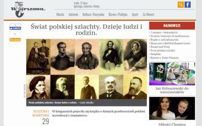 Warszawa.pl: Świat polskiej szlachty. Dzieje ludzi i rodzin